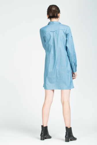 rochie mini albastră din bumbac marca grass doar la pickandkeep